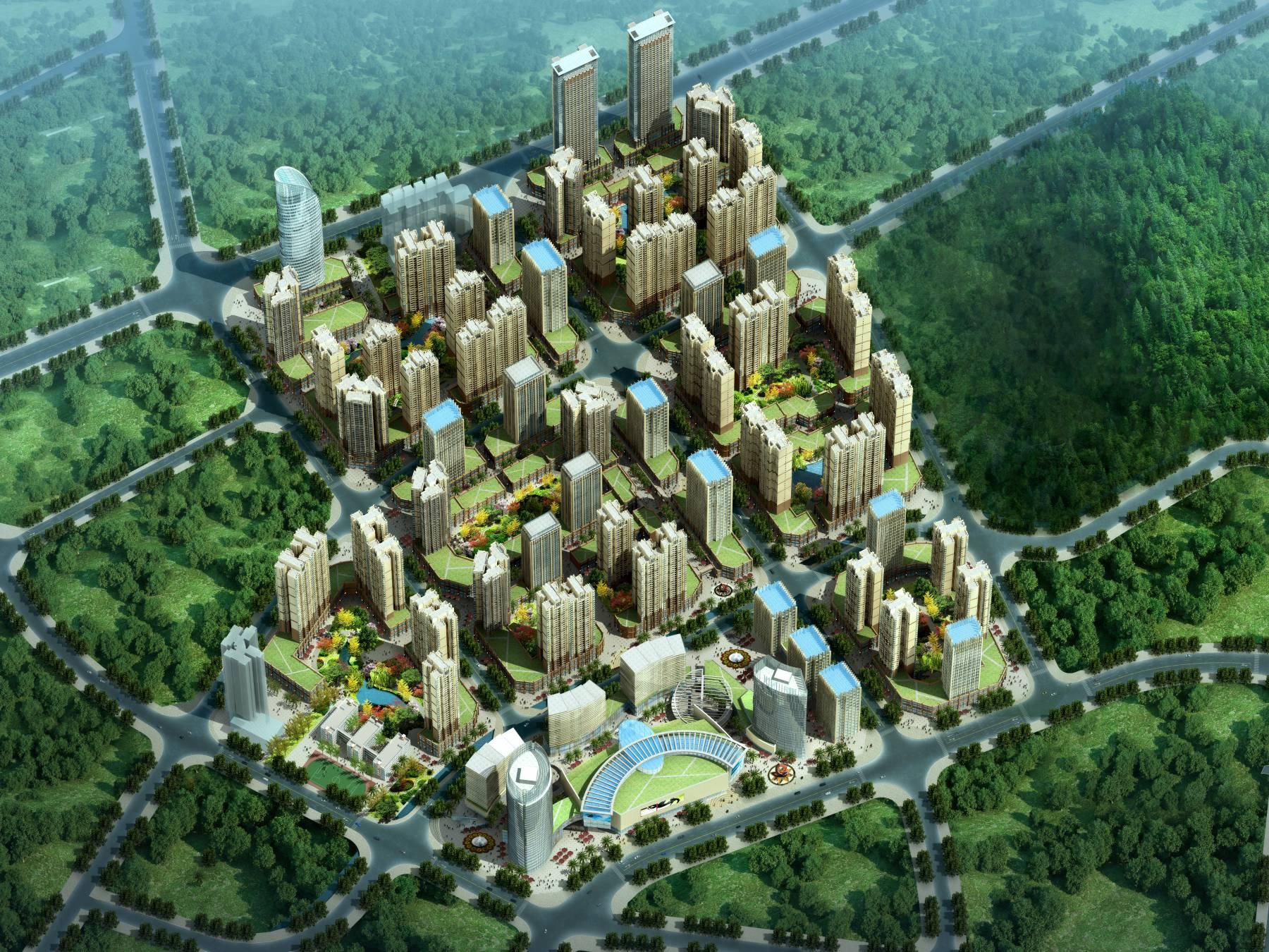 大型商业住宅小区