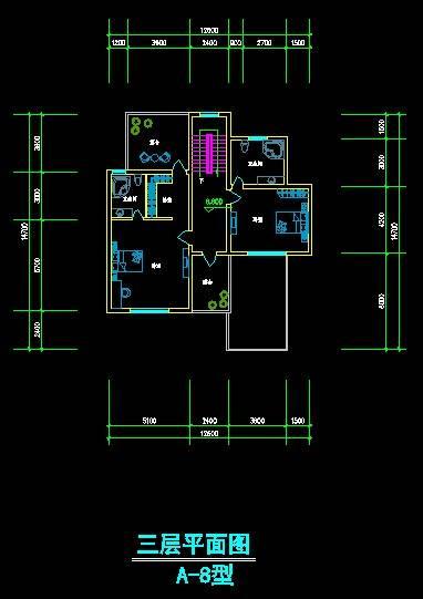 现代风格别墅平面图