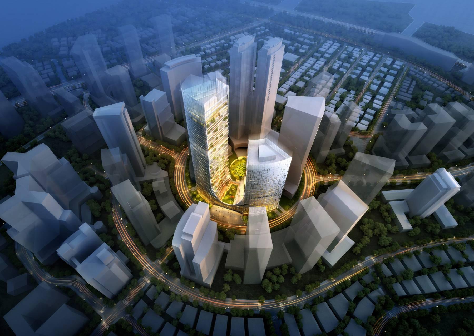 现代超高层商业综合楼