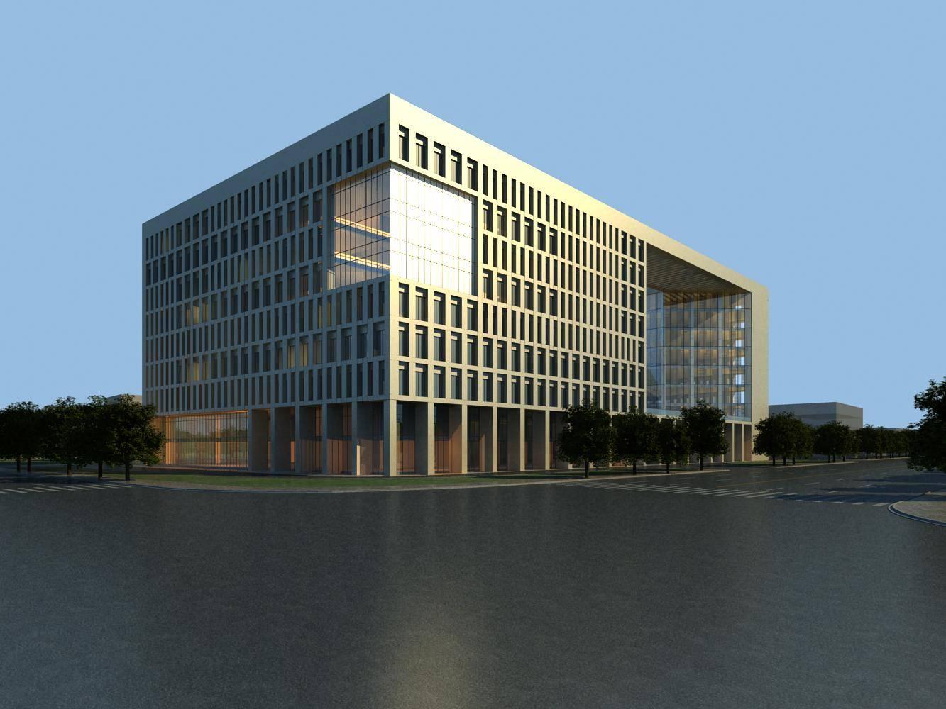 现代小高层办公楼
