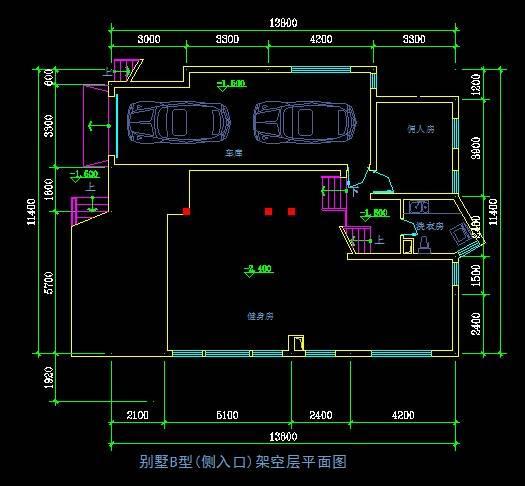 现代别墅平面图