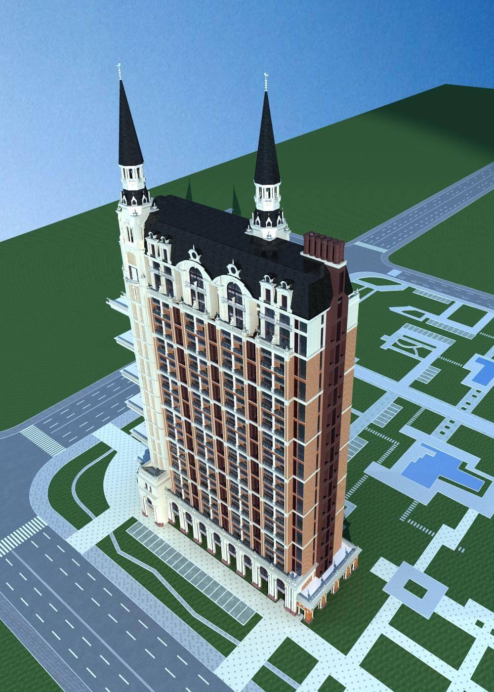 欧式高层商业住宅楼