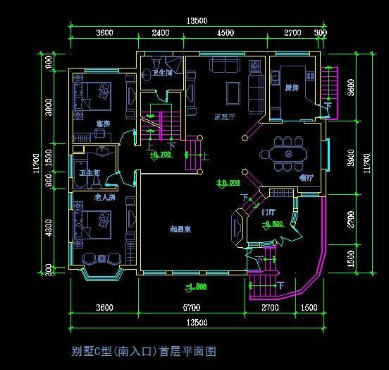 欧式风格别墅平面图