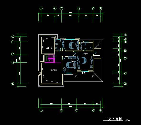 欧式别墅平面图