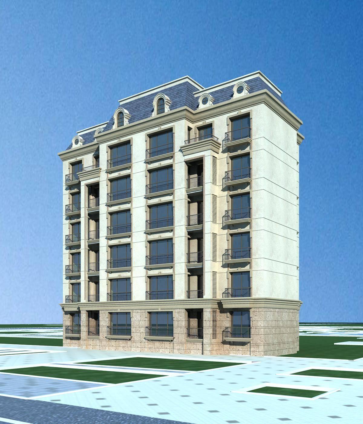 欧式多层住宅楼