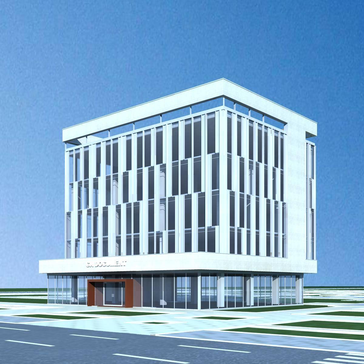 现代多层办公楼