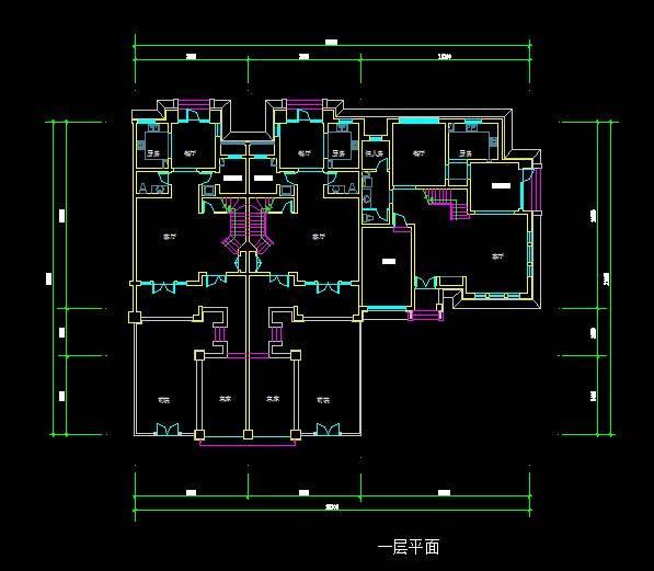 中式联排别墅平面图