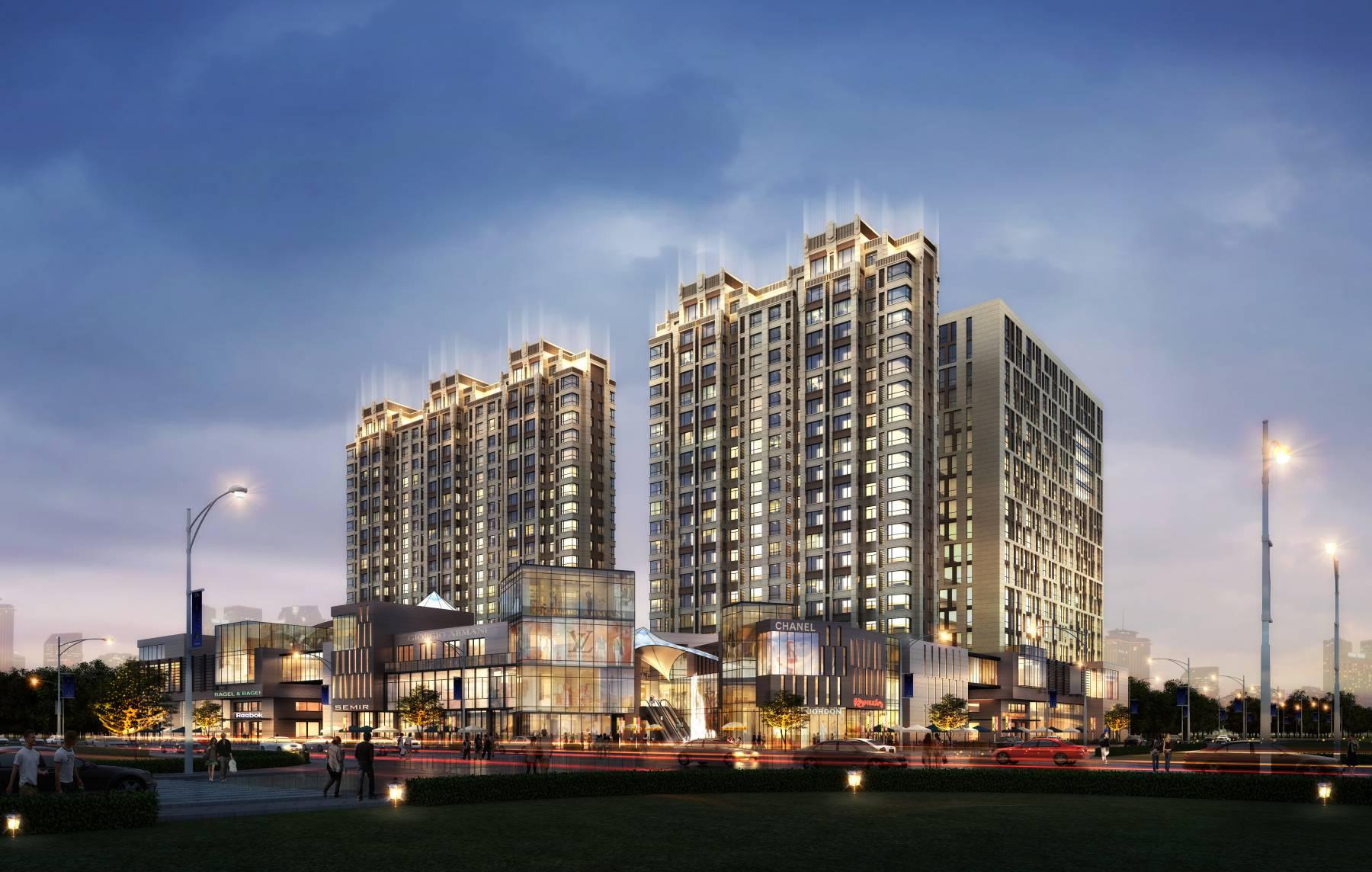 现代商业及住宅楼