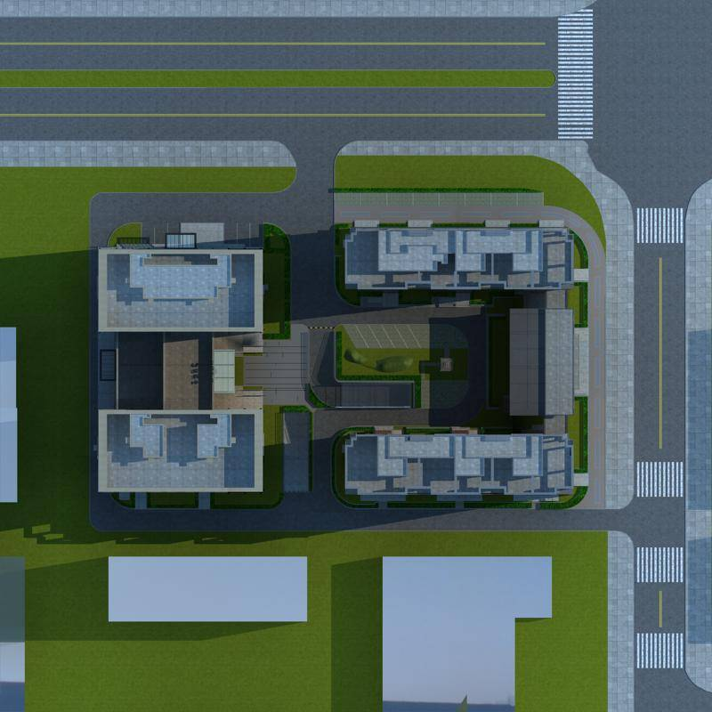 现代高层商业住宅楼