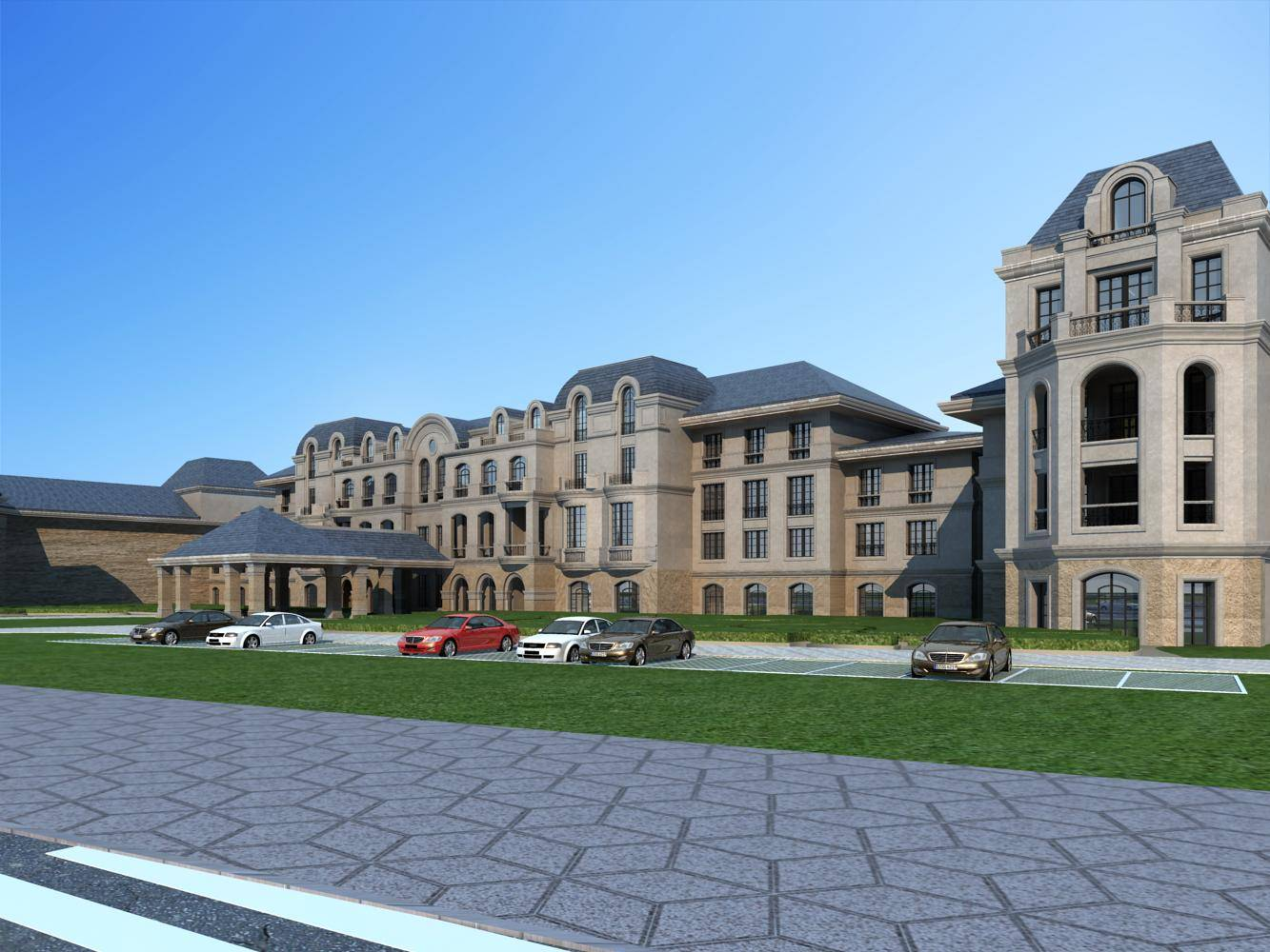 法式酒店及别墅群