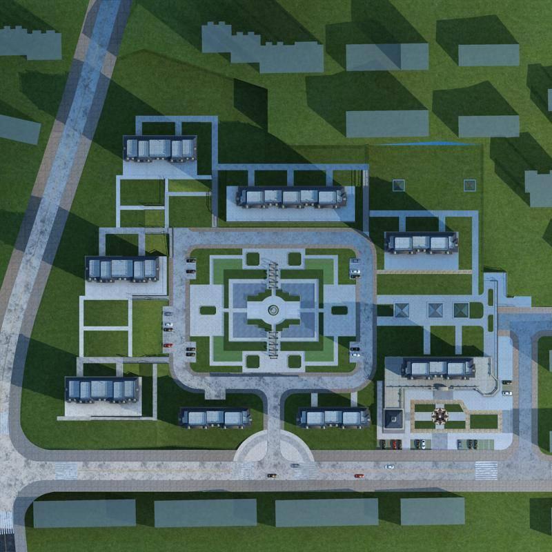 法式商业住宅小区