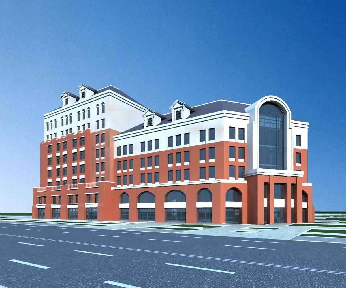 欧式多层商业住宅楼