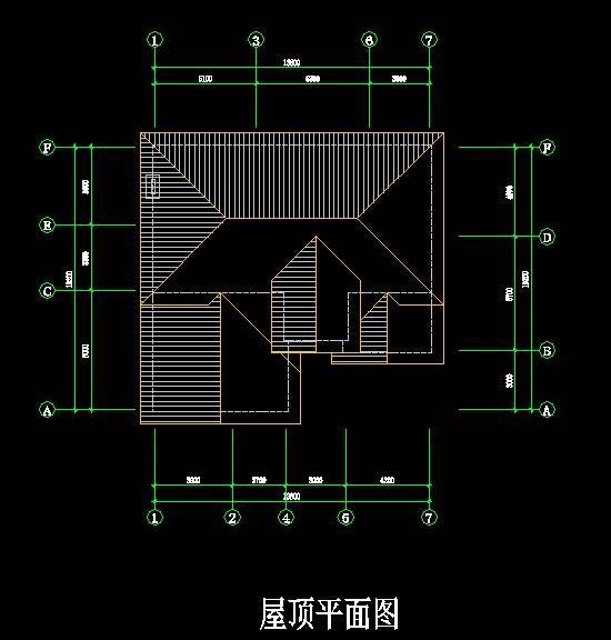 中式独栋别墅平面图