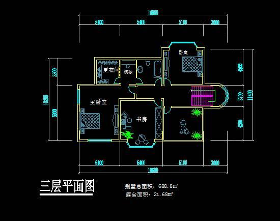新中式风格别墅平面图