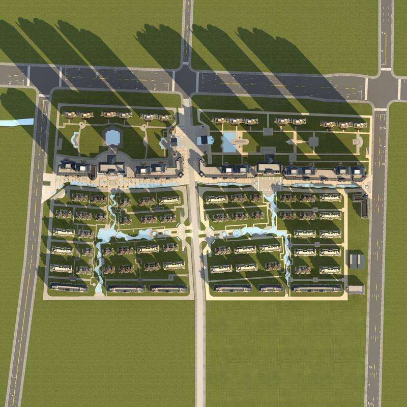 大型商业住宅小区规划