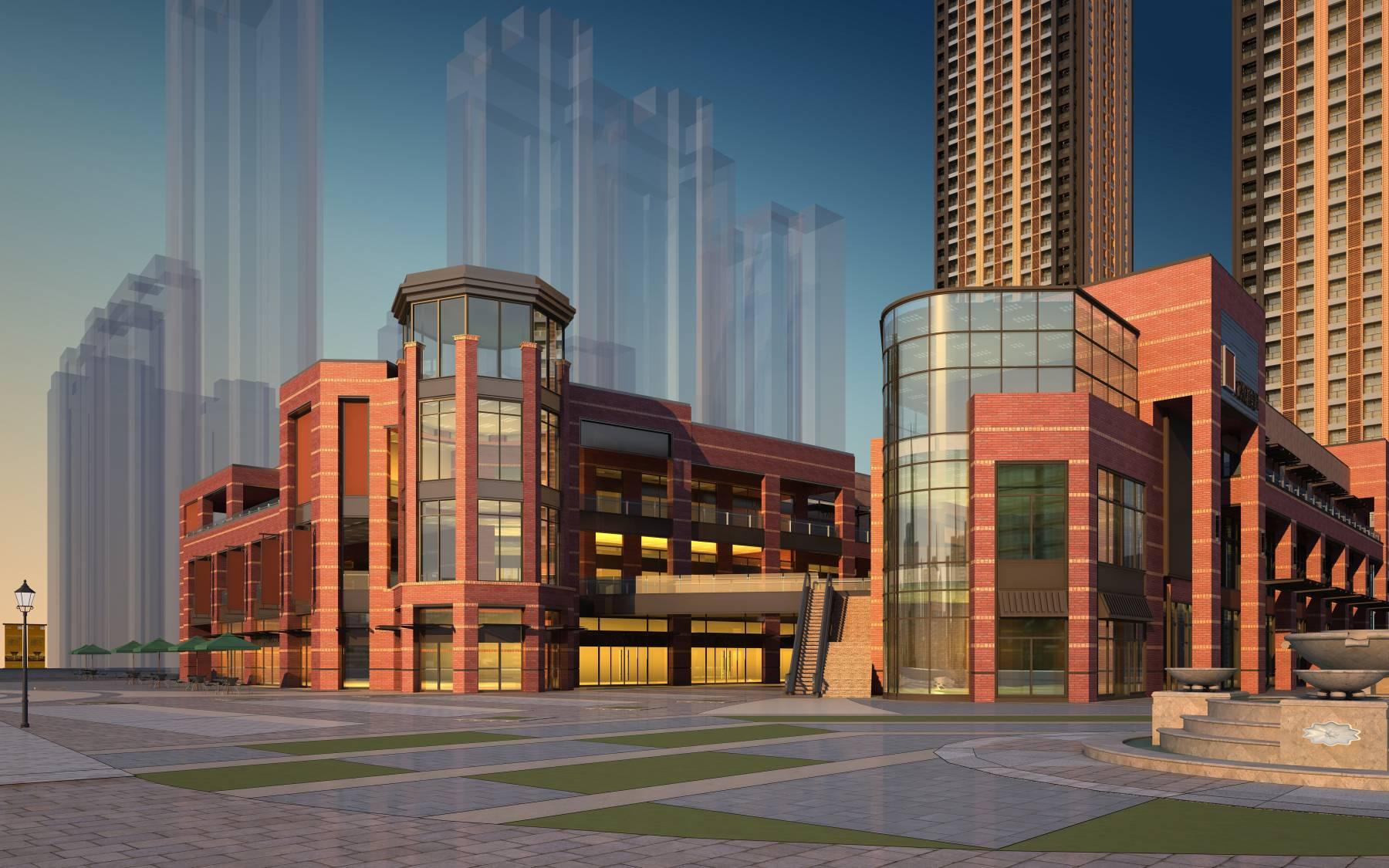 现代商业及住宅公寓
