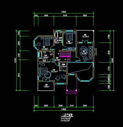 中式别墅平立面图