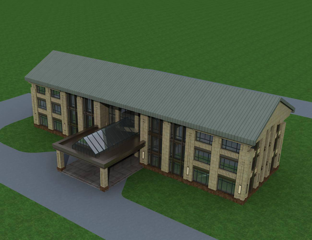 新古典风格小办公楼