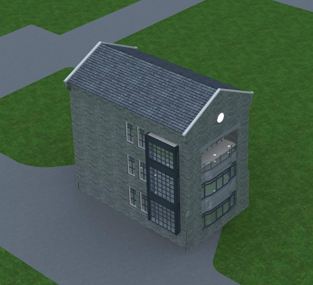 民国风格小商业楼