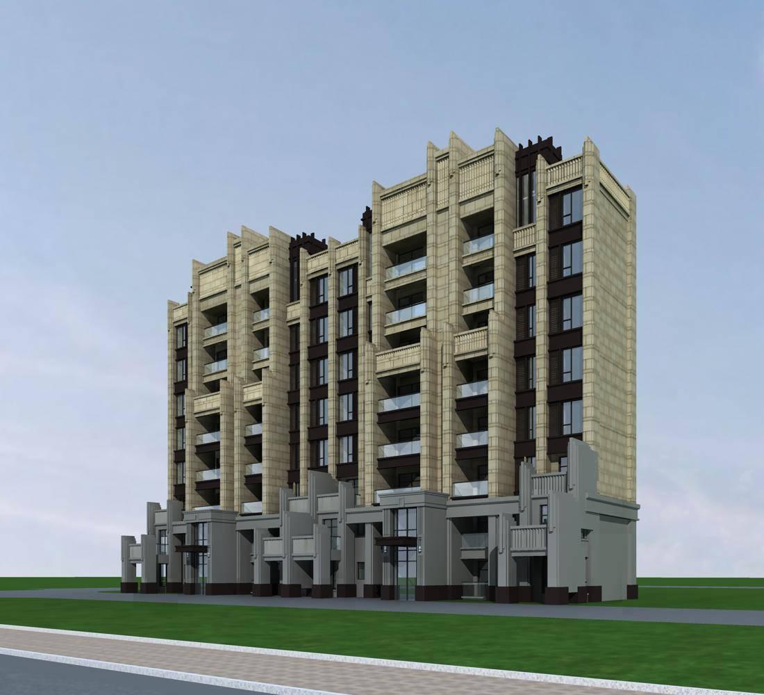 新古典风格多层住宅楼