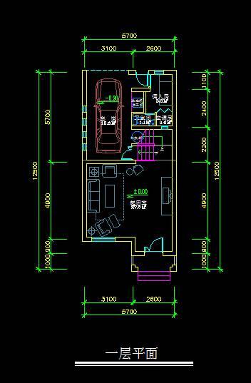 现代联排别墅平面图