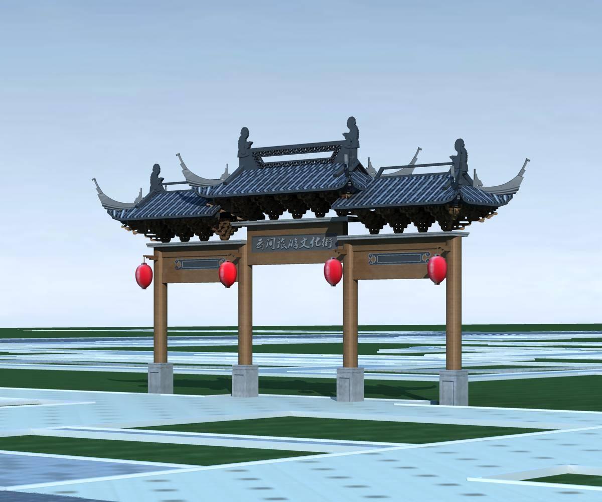 中式大门--牌坊