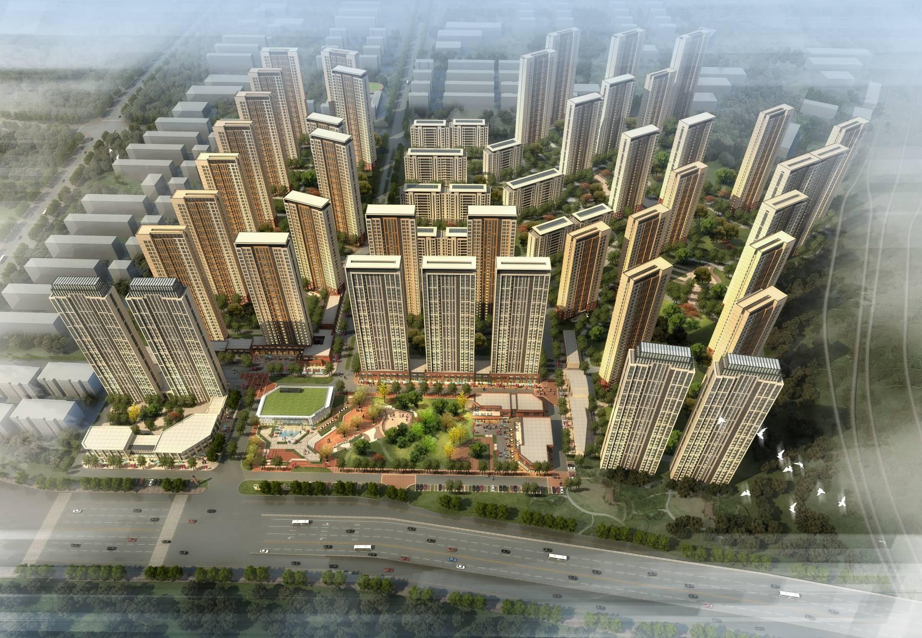 现代高层商业住宅小区