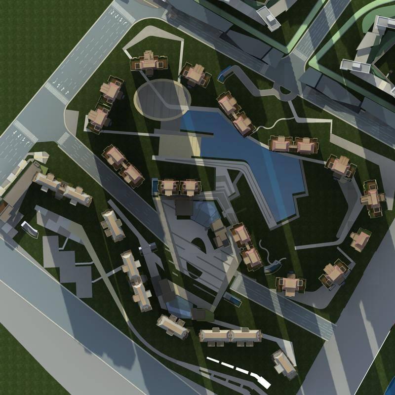 欧式高层商业住宅小区