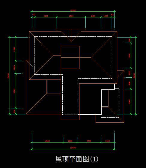 北美风格别墅平面图