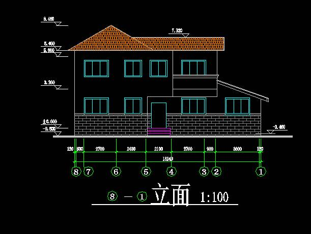 中式风格别墅平立剖全