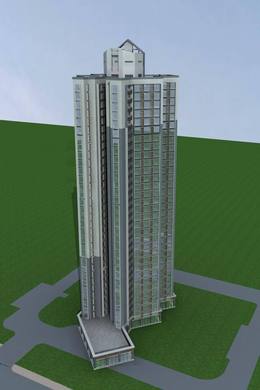 中式高层商业住宅楼