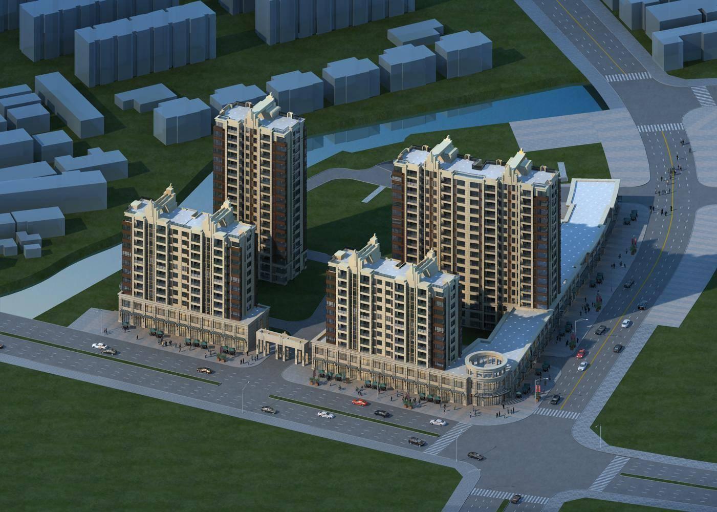 新古典风格商业住宅楼