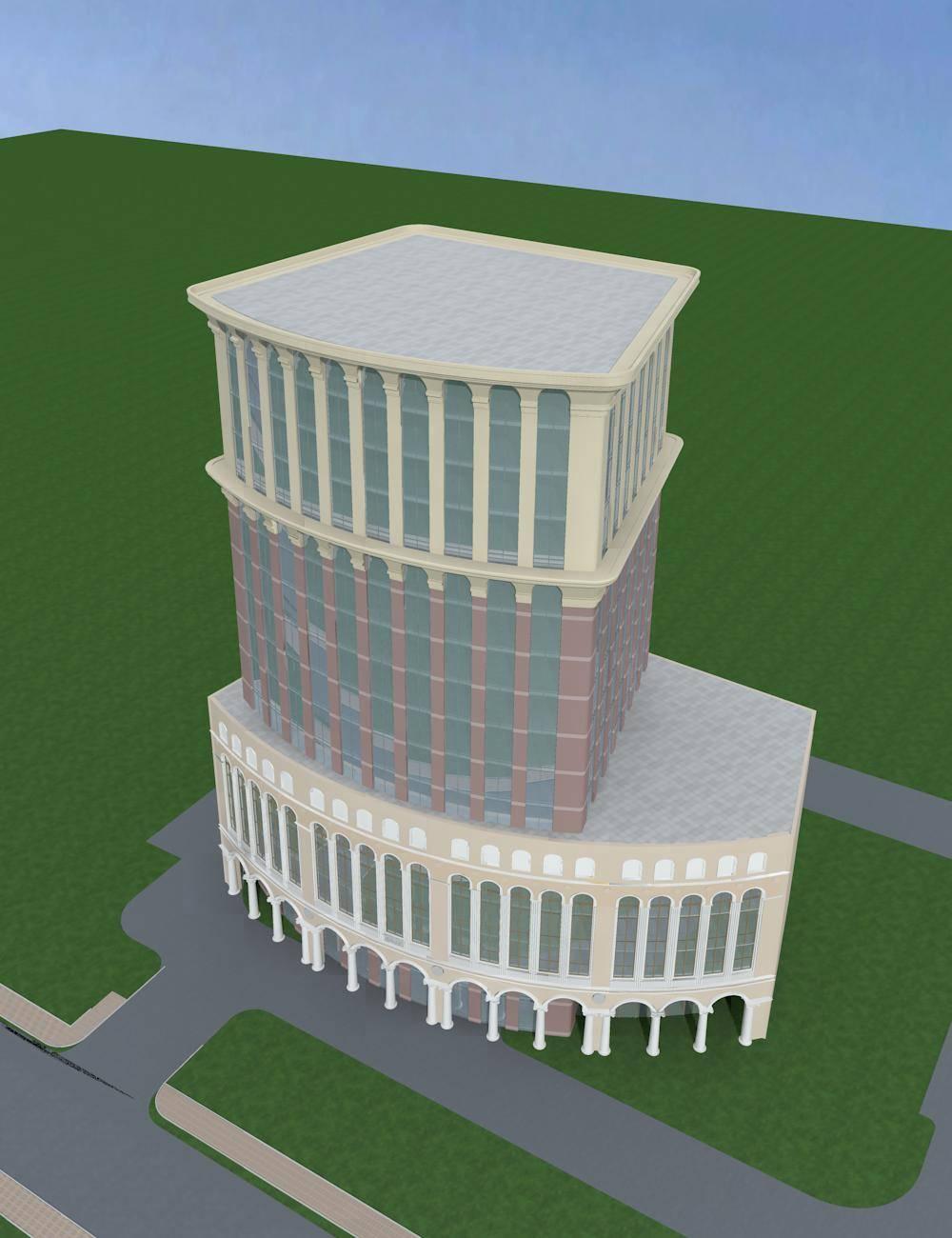 欧式高层商业办公楼