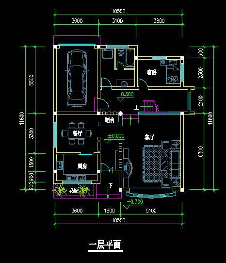 中式风格别墅平立面