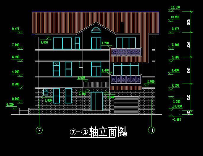 中式别墅全套图