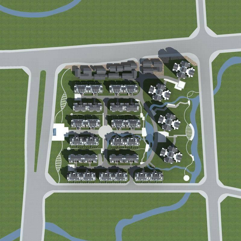 大型中式商业住宅小区