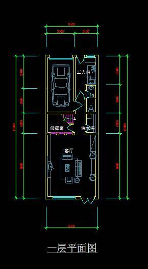 联排别墅平面图
