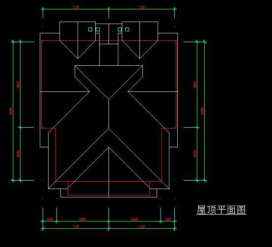 中式联排别墅平立面