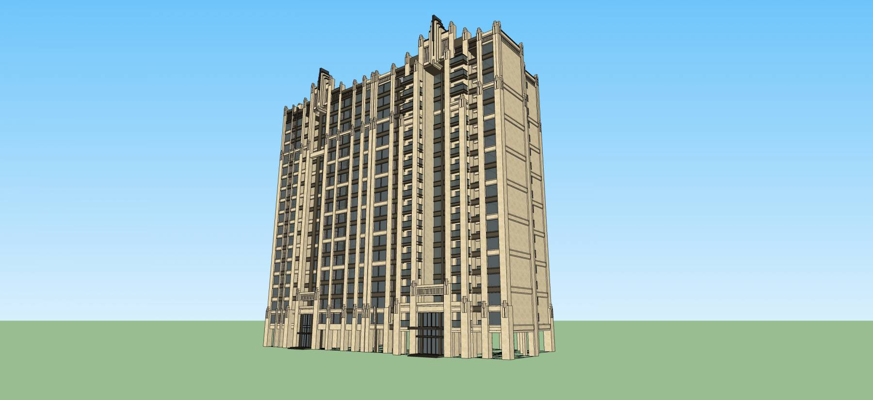 ART-DECO风格高层住宅