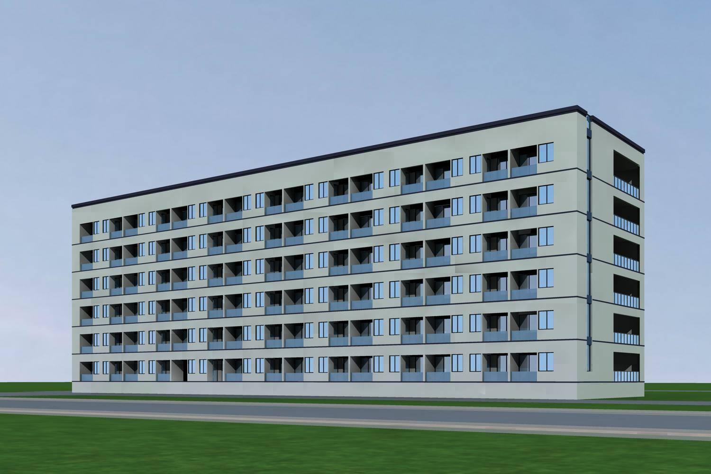 现代多层宿舍楼