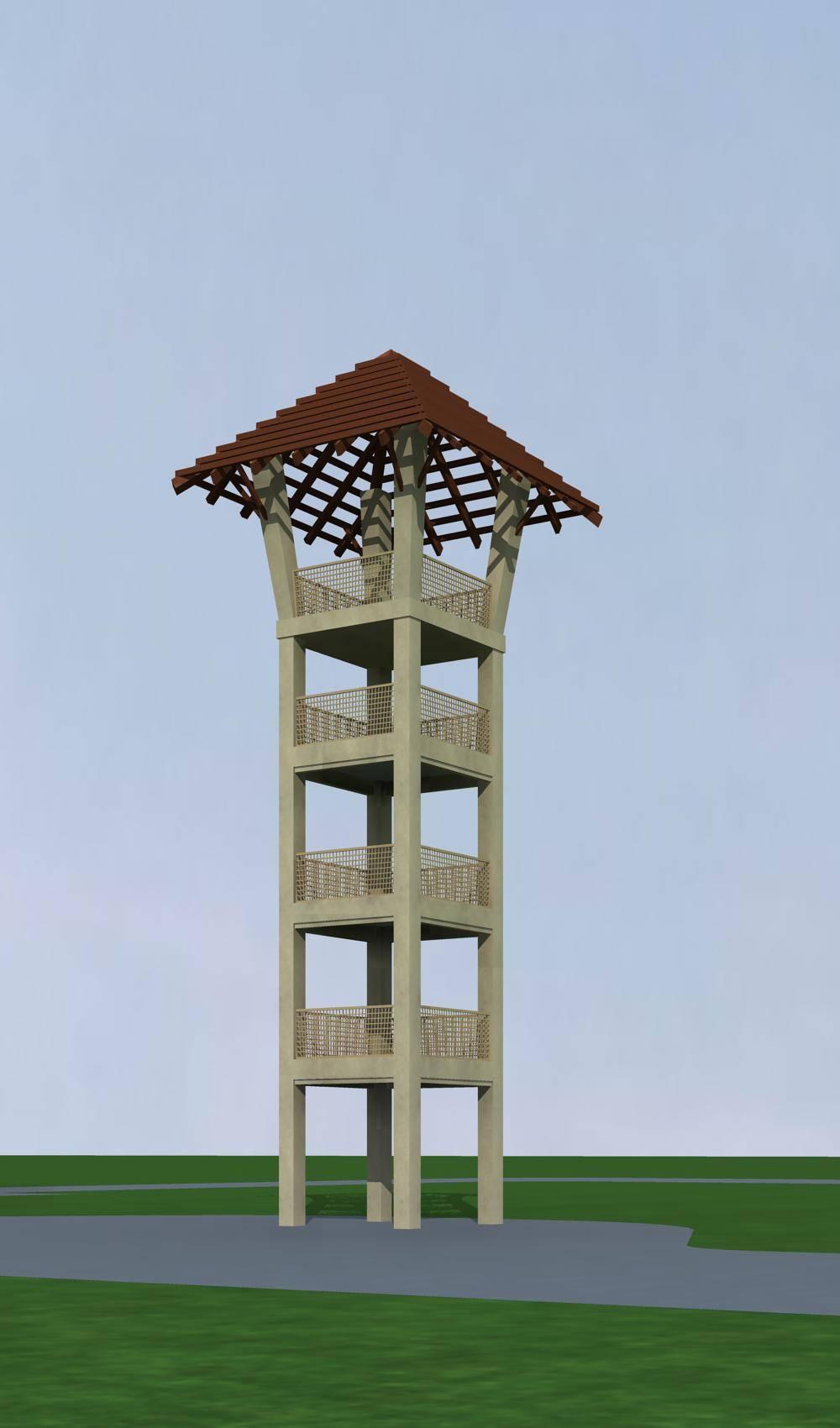中式景观塔