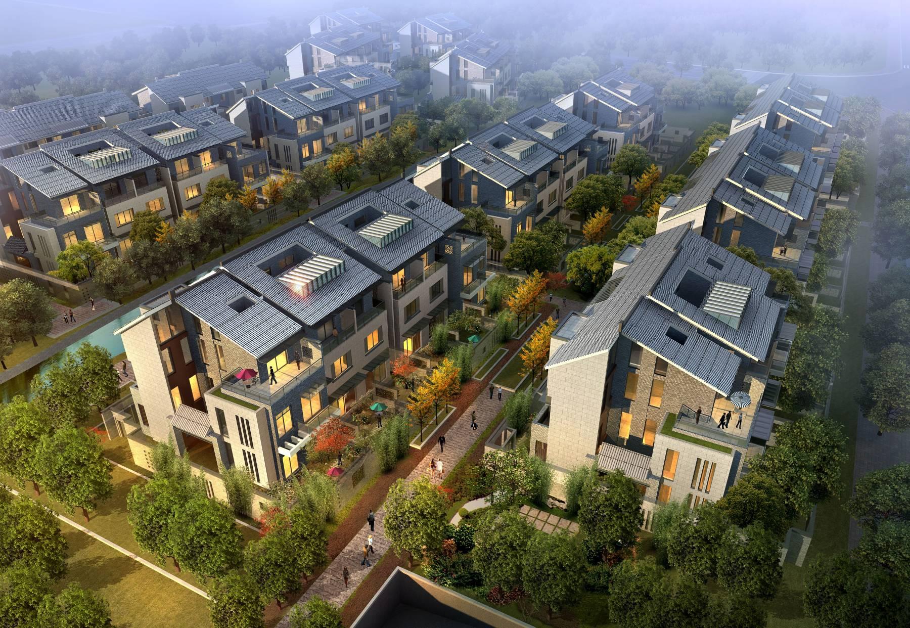 中式别墅群方案二