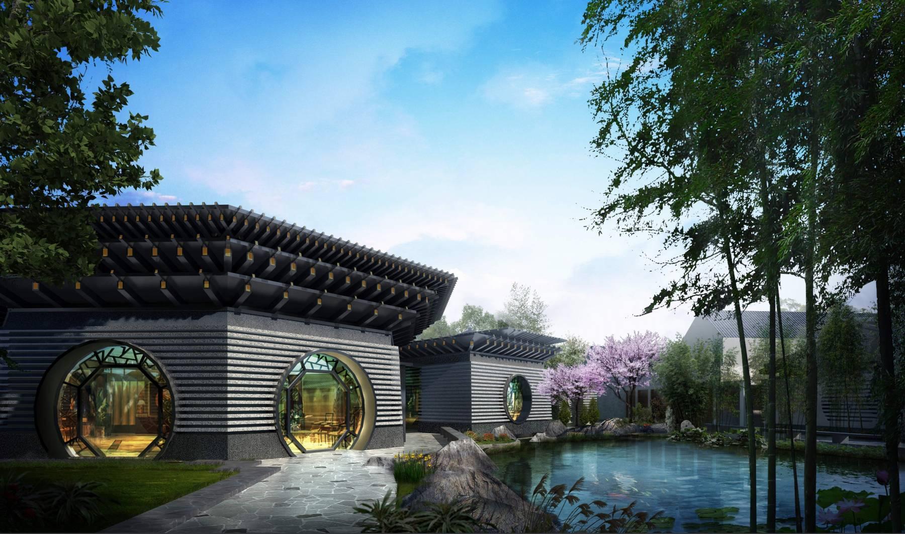 中式会所及别墅