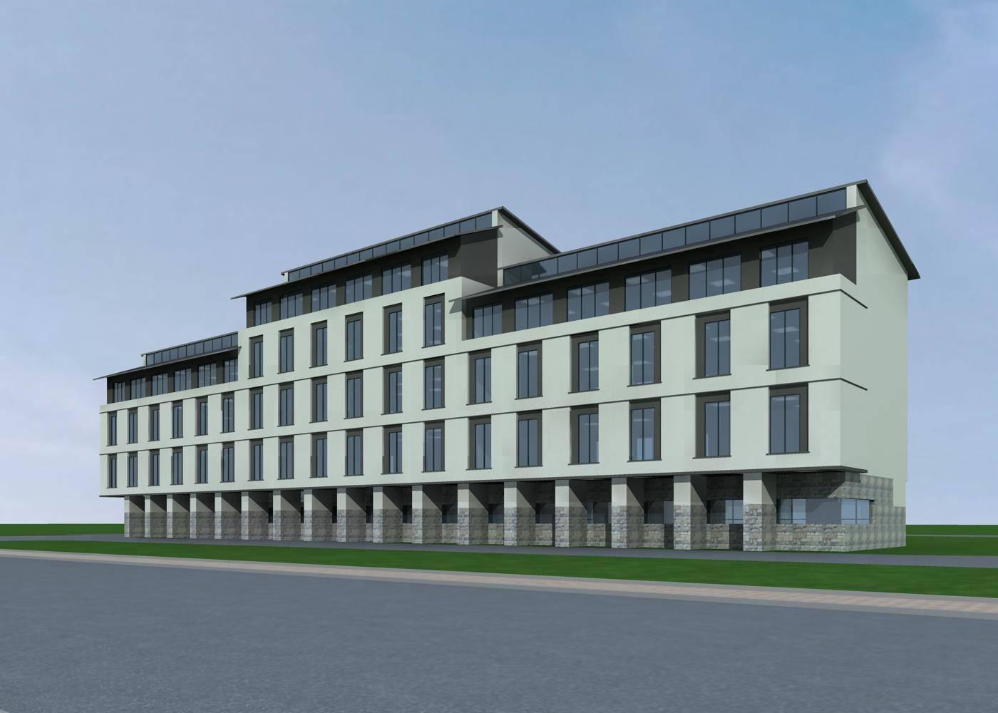新中式多层办公楼