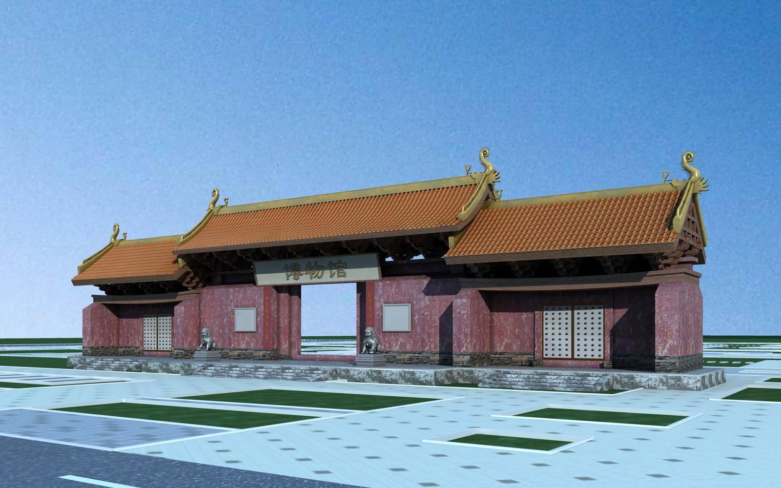 中式入口处