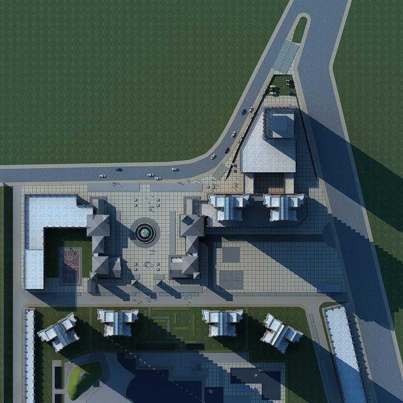 欧式综合商业住宅小区