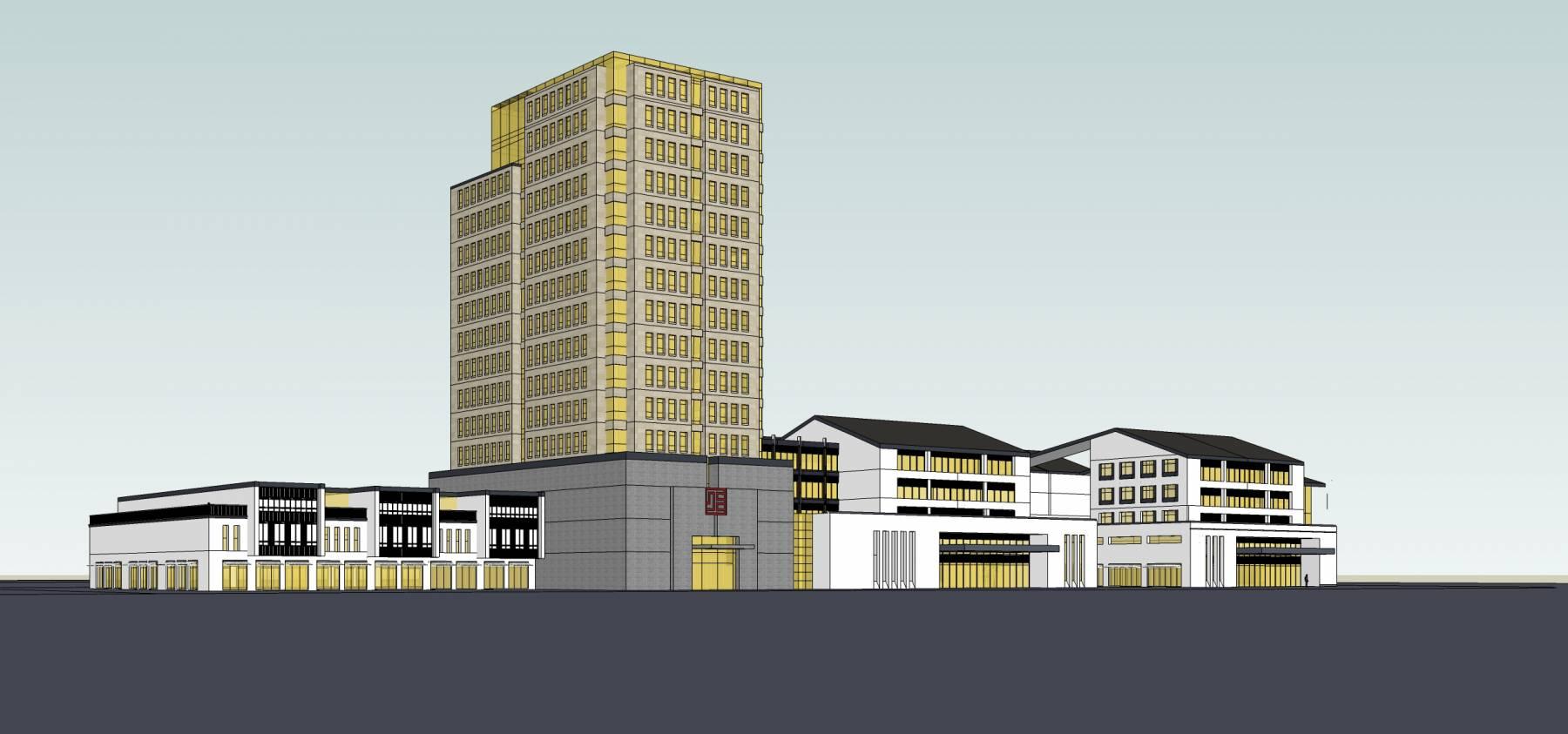 新中式商业及办公楼