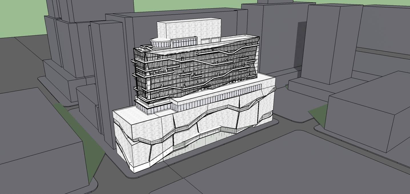 概念小高层办公楼