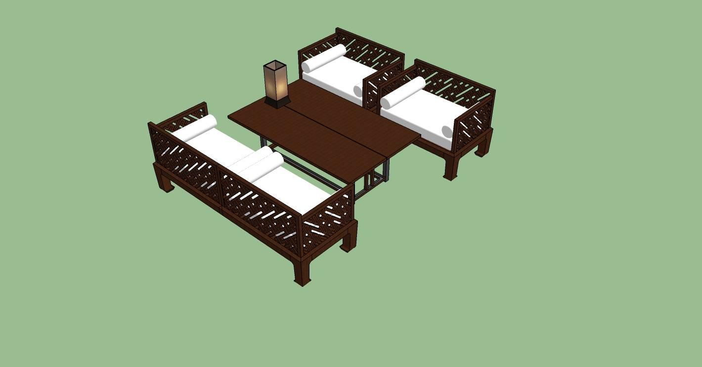 室内家具-茶座