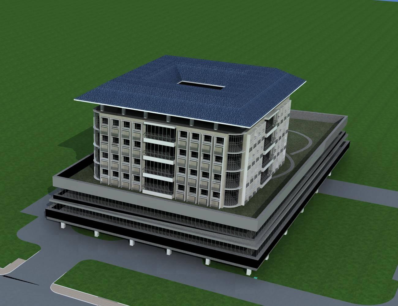 新中式多层商业办公楼
